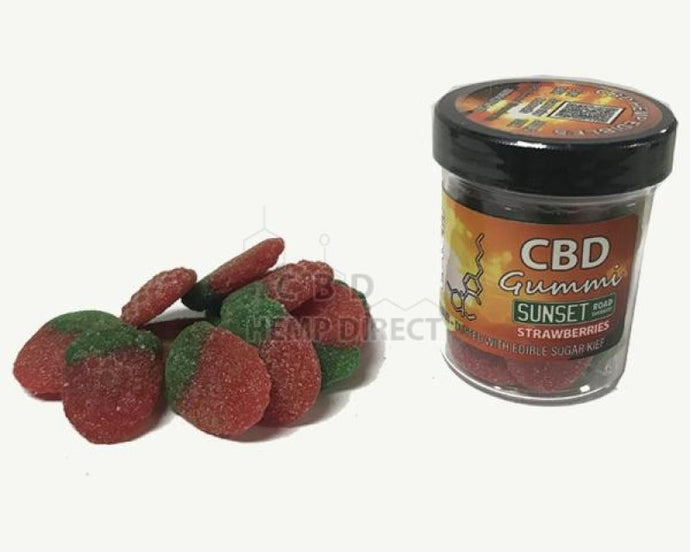 Sunset Road Sherbert Gummi Strawberries