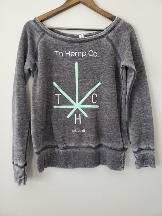 Tn Hemp Co. Women's Wide Neck Sweatshirt