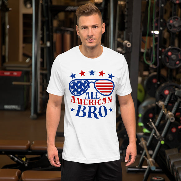 All American BRO 4th of July Gifts Unisex T-Shirt