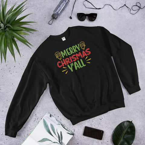 Merry Christmas Y'all Unisex Sweatshirt