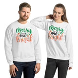 Merry And Bright Ugly Christmas Day Gift Unisex Sweatshirt