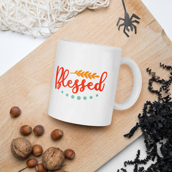Blessed Thanksgiving And Fall Mug
