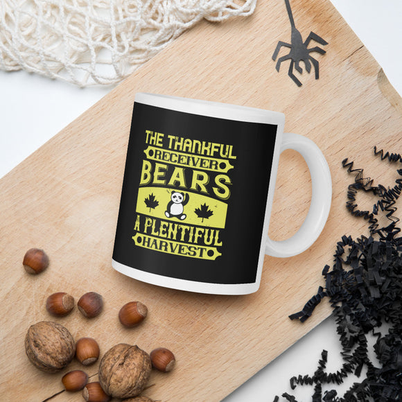 The Thankful Receiver Bears A Plentiful Harvest Thanksgiving And Fall Mug
