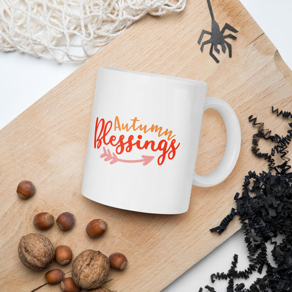 Autumn Blessings Gift Thanksgiving And Fall Mug