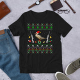 Funny Christmas Pajama Unisex T-Shirt For Eurasian Duck Mergus Hunting
