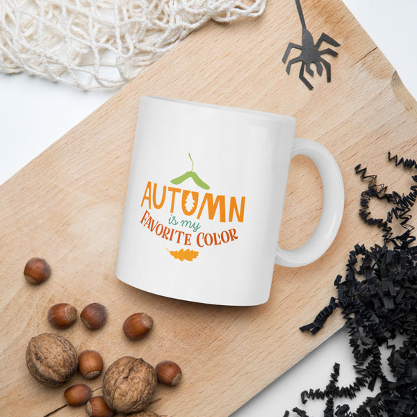 Autumn is my Favorite Color Gift Thanksgiving And Fall Mug