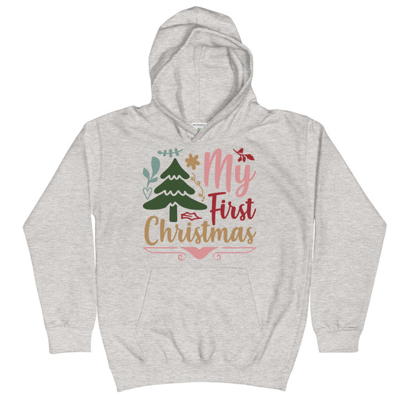 My First Christmas Gift Kids Hoodie