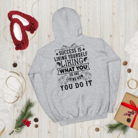 Success Is Liking Yourself, Liking What You Do, And Liking How You Do It Afro Unisex Hoodie Everyone needs a cozy go-to hoodie to curl up in, so go for one that's soft, smooth, and stylish. It's the perfect choice for cooler evenings!