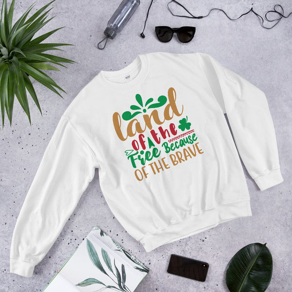 Land Of The Free Because Of The Brave Ugly Christmas Unisex Sweatshirt