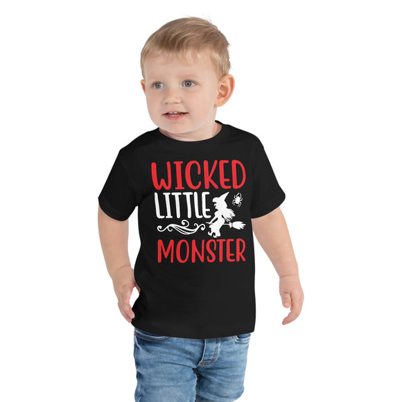 Wicked Little Monster Halloween Toddler Short Sleeve Tee