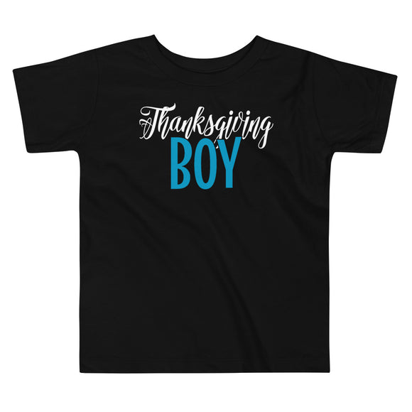 Thanksgiving Boy Fall Toddler Short Sleeve Tee