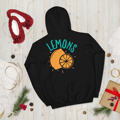 Lemons Adventure Unisex Hoodie Everyone needs a cozy go-to hoodie to curl up in, so go for one that's soft, smooth, and stylish. It's the perfect choice for cooler evenings!