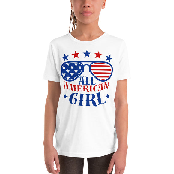 All American Girl 4th of July youth Gifts T-Shirt