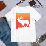 Vintage New Mexico Elk Hunting Retro Outdoors Unisex T-Shirt