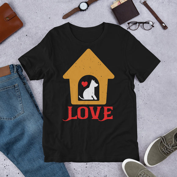 Love Unisex T-Shirt This t-shirt is everything you've dreamed of and more. It feels soft and lightweight, with the right amount of stretch. It's comfortable and flattering for both men and women.