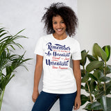 Remember There's No Such Thing As An Unrealistic Goal Just Unrealistic Time Frames Donald Trump 2020 Unisex T-Shirt