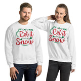 Let It Snow Christmas Pajama Unisex Sweatshirt