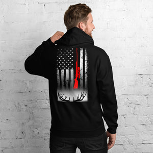 Rifle Hunter Flag Antler Shed Hunting Unisex Hoodie