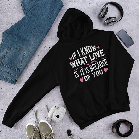 If I Know What Love Is, It Is Because Of You Unisex Hoodie
