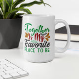 Together Is My Favorite Place To Be Christmas Pajama Mug