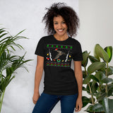 Funny Christmas Pajama Unisex T-Shirt For Eurasian Teal Duck Hunter