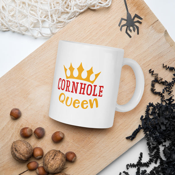 Cornhole Queen Thanksgiving And Fall Mug