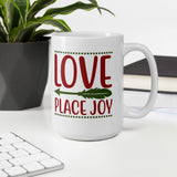Love Place Joy Christmas Pajama Mug