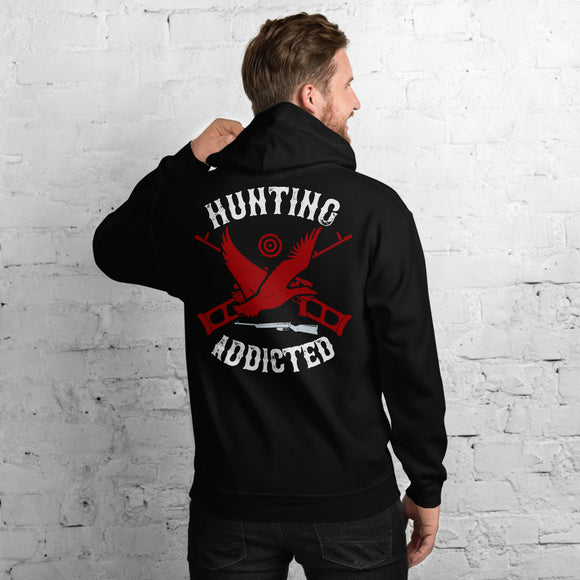 Hunting Addicted Big-game And Waterfowl Hunter Unisex Hoodie