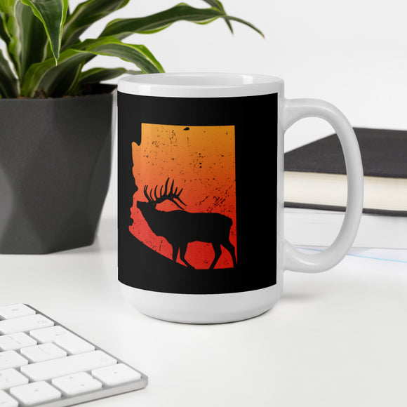 Arizona State Elk Hunting Bow Hunter Mug