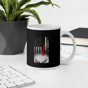 American Flag Patriotic Shed Hunting Mug