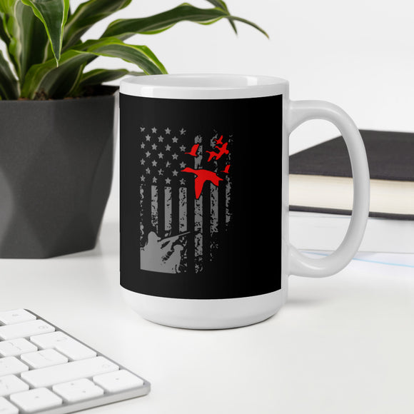 Duck Hunting American Flag USA Hunter Gift Mug