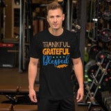 Thankful Grateful Blessed Thanksgiving And Fall Unisex T-Shirt