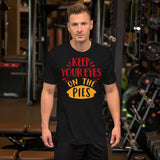 Keep Your Eyes On The Pies Thanksgiving And Fall Unisex T-Shirt