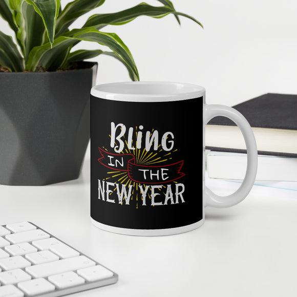 Bling In The New Year Christmas Mug