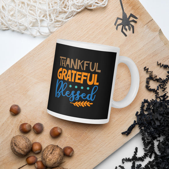 Thankful Forgiven Grateful Thanksgiving And Fall Mug