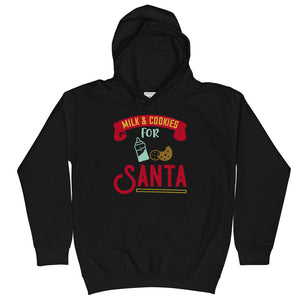 Milk & Cookies For Santa Christmas Kids Hoodie