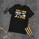 Yes I Can Drive A Stick Halloween Short-Sleeve Unisex T-Shirt