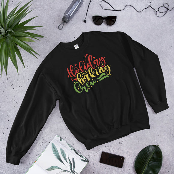 Holiday Baking Crew Ugly Christmas Eve Unisex Sweatshirt