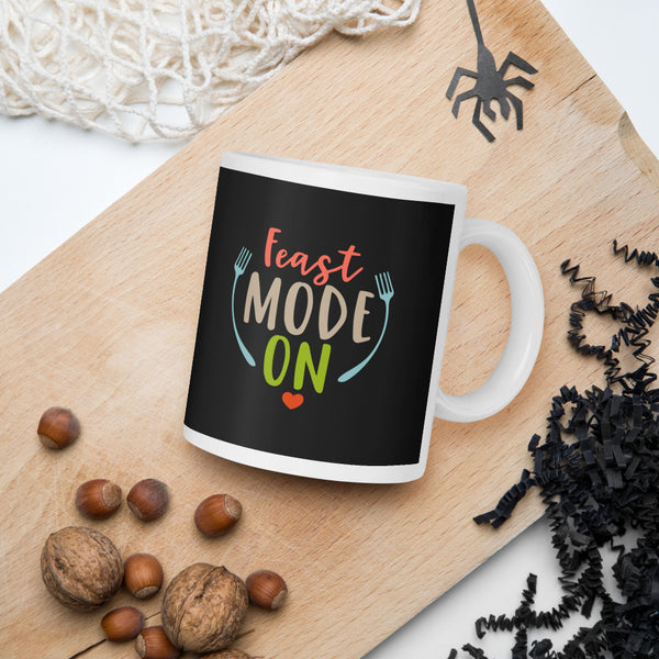 Feast Mode On Thanksgiving And Fall Mug