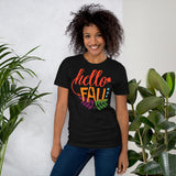 Hello Fall Thanksgiving And Fall Unisex T-Shirt