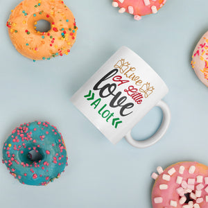 Live A Little Love A Lot Christmas Mug