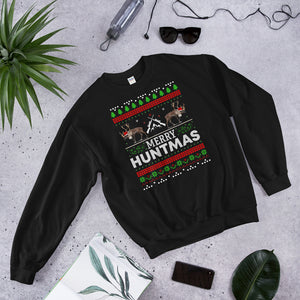 Funny Christmas Pajama Unisex Sweatshirt For Moose Hunter