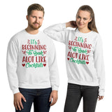 It's Beginning To Look A Lot Like Cocktails Christmas Pajama Unisex Sweatshirt