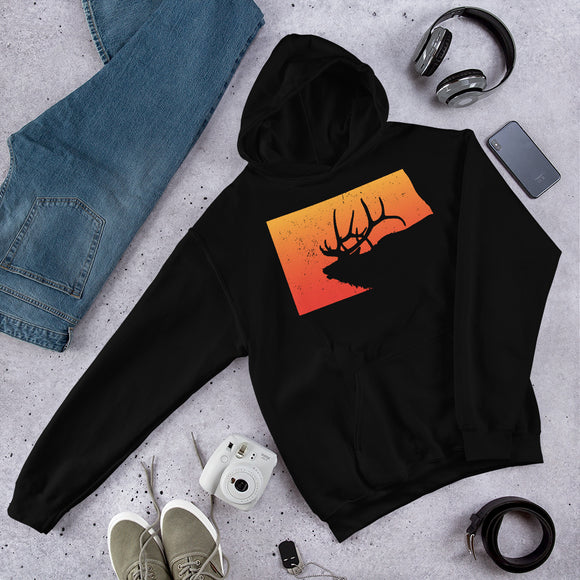 North Dakota Elk Hunter Gift Unisex Hoodie