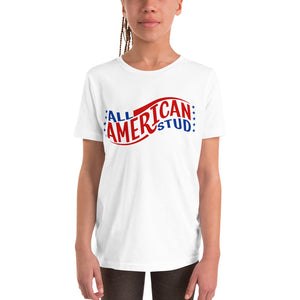 All American Stud 4th of July T-Shirt For Kids and Youth