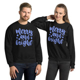 Merry And Bright Ugly Christmas Eve Gift Unisex Sweatshirt