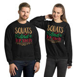 Squats And Top Knots Ugly Christmas Unisex Sweatshirt