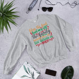 Bless The Food Before Us The Family Beside Us And The Love Between Us Amen Christmas Unisex Sweatshirt
