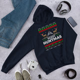 Funny Christmas Pajama Unisex Hoodie For Red Deer Hunter