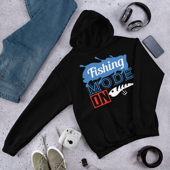 Fishing Mode On Funny Outdoor Gift Unisex Hoodie
